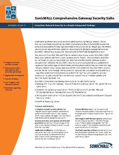 View SonicWall Comprehensive Gateway Security Suite PDF