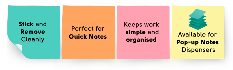 Post-it original notes features and benefits