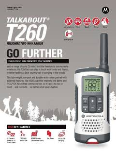 View Talkabout T260 Data Sheet PDF