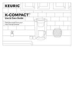 K-Compact Use & Care Guide