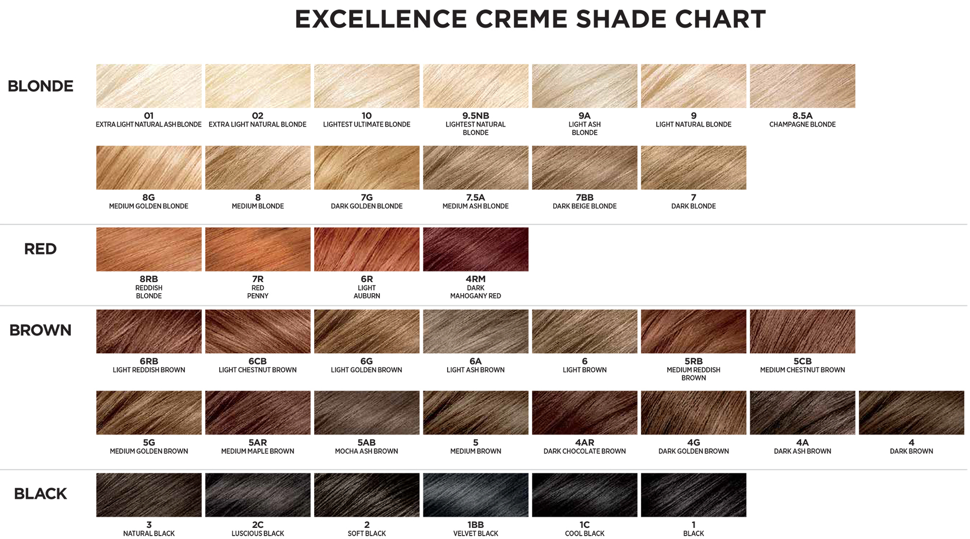 l u0026 39 oreal paris excellence hair color