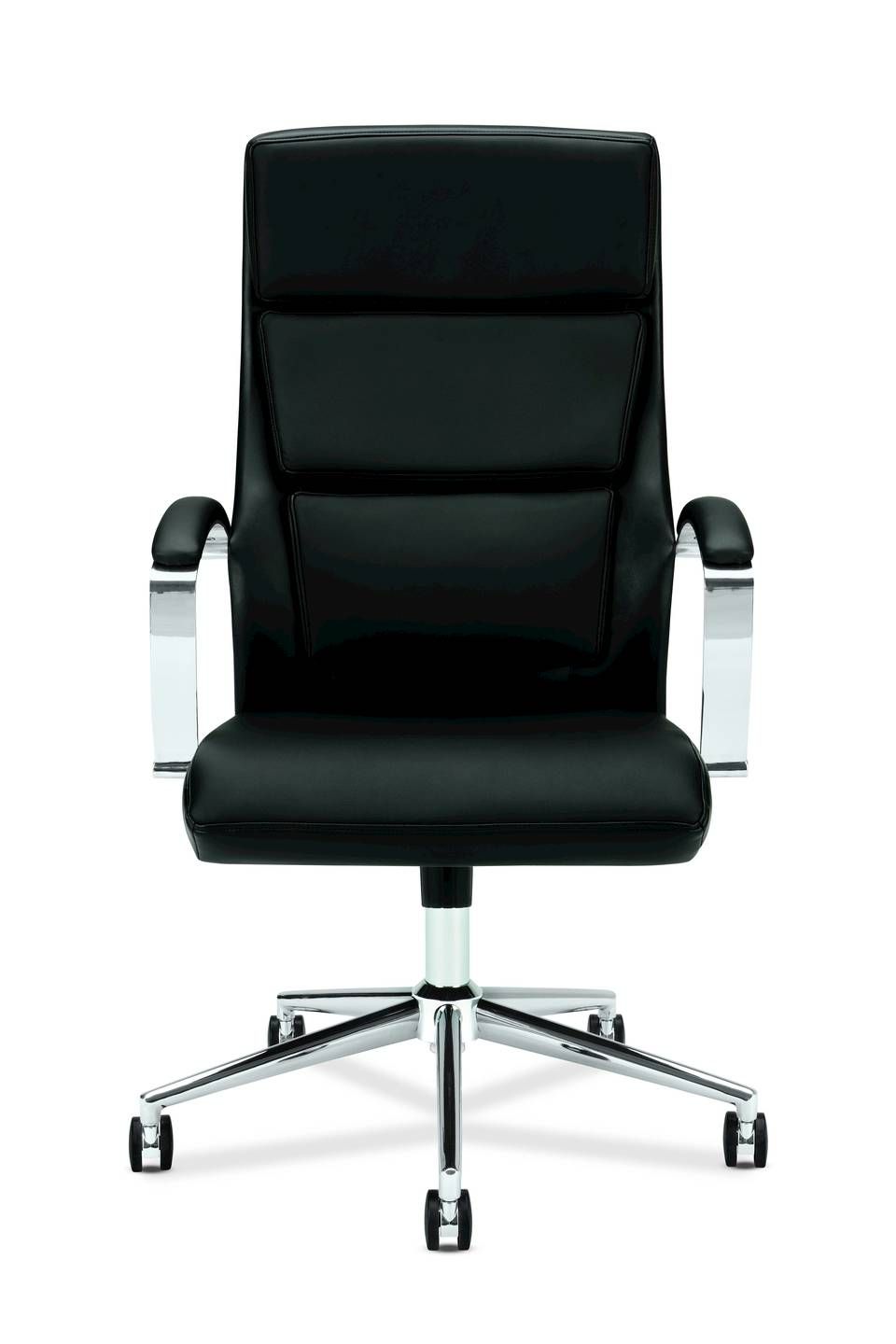 This VL105 Executive High Back Chair Has Center Tilt With Lock And Tension  Control. SofThread™ Leather Upholstery, An Integrated Headrest And Chrome  Arms ...