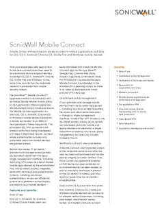 View SonicWall Mobile Connect PDF