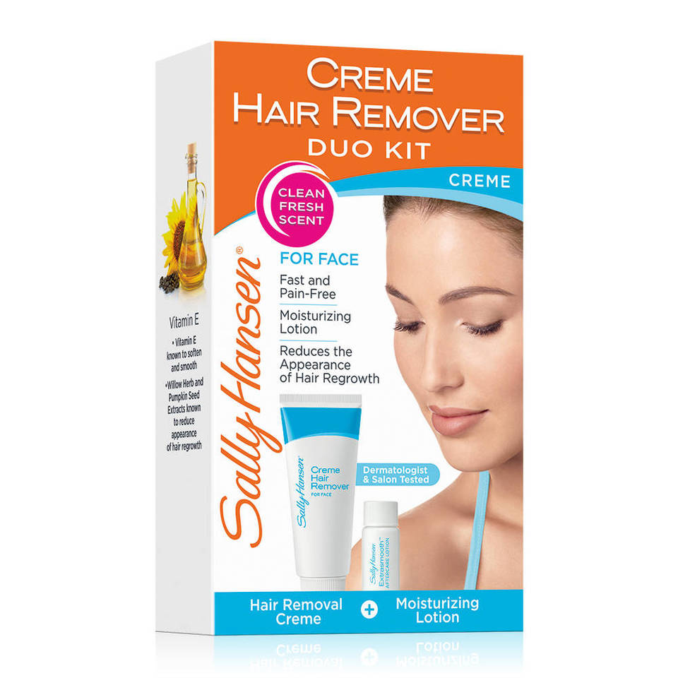 Sally Hansen Creme Hair Remover Kit For Face 25 Oz Walmart