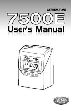 View 7500E User's Manual PDF