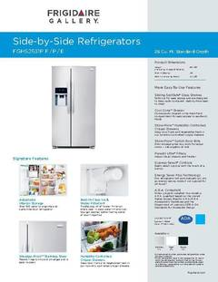 Frigidaire Gallery 26-cu ft Side-by-Side Refrigerator with Ice Maker on electrical diagrams, troubleshooting diagrams, honda motorcycle repair diagrams, sincgars radio configurations diagrams, snatch block diagrams, motor diagrams, hvac diagrams, switch diagrams, pinout diagrams, friendship bracelet diagrams, transformer diagrams, engine diagrams, gmc fuse box diagrams, smart car diagrams, lighting diagrams, series and parallel circuits diagrams, internet of things diagrams, electronic circuit diagrams, led circuit diagrams, battery diagrams,