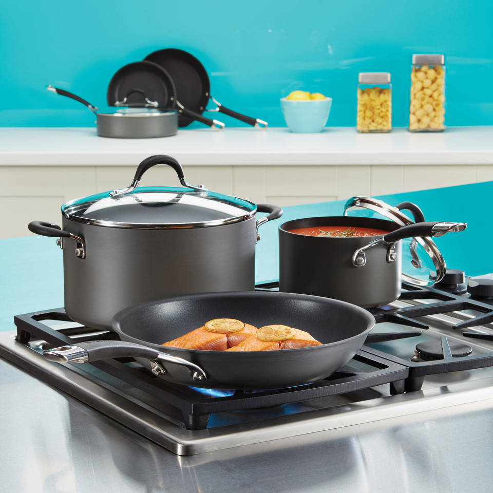 Circulon Momentum 11 Piece Aluminum Non-Stick Cookware Set & Reviews ...