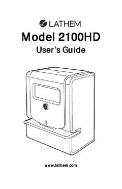 View 2100HD User's Guide PDF