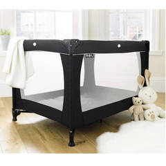Room View - The Red Kite Sleeptight Travel Cot - Black