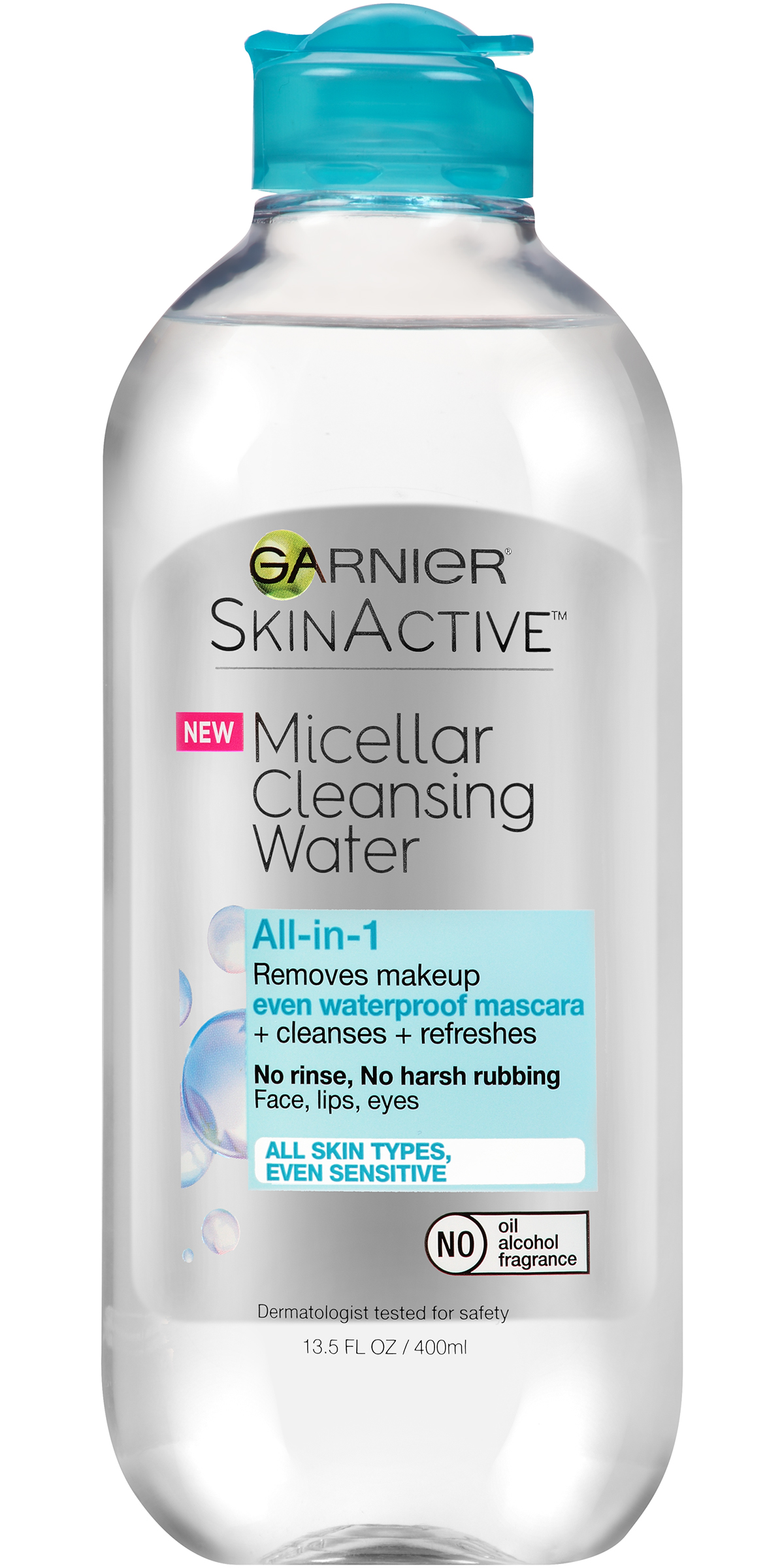 garnier skinactive all in 1 micellar cleansing water 13 5fl oz micellar cleansing water all in 1 cleanser waterproof makeup