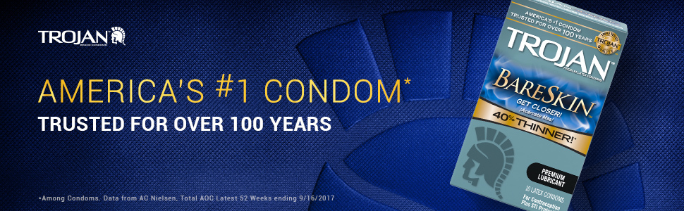 Trojan Sensitivity Bareskin Lubricated Latex Condoms