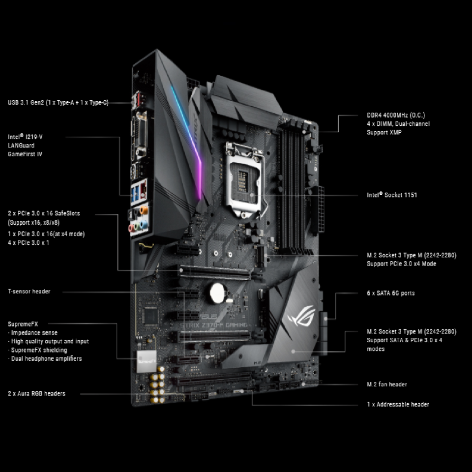 Asus ROG STRIX Z370-F GAMING LGA1151 Intel Z370 ATX