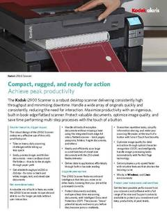 View Kodak i2900 Scanner Brochure PDF