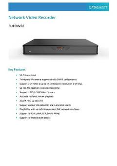 RU16NVR2 Spec Sheet