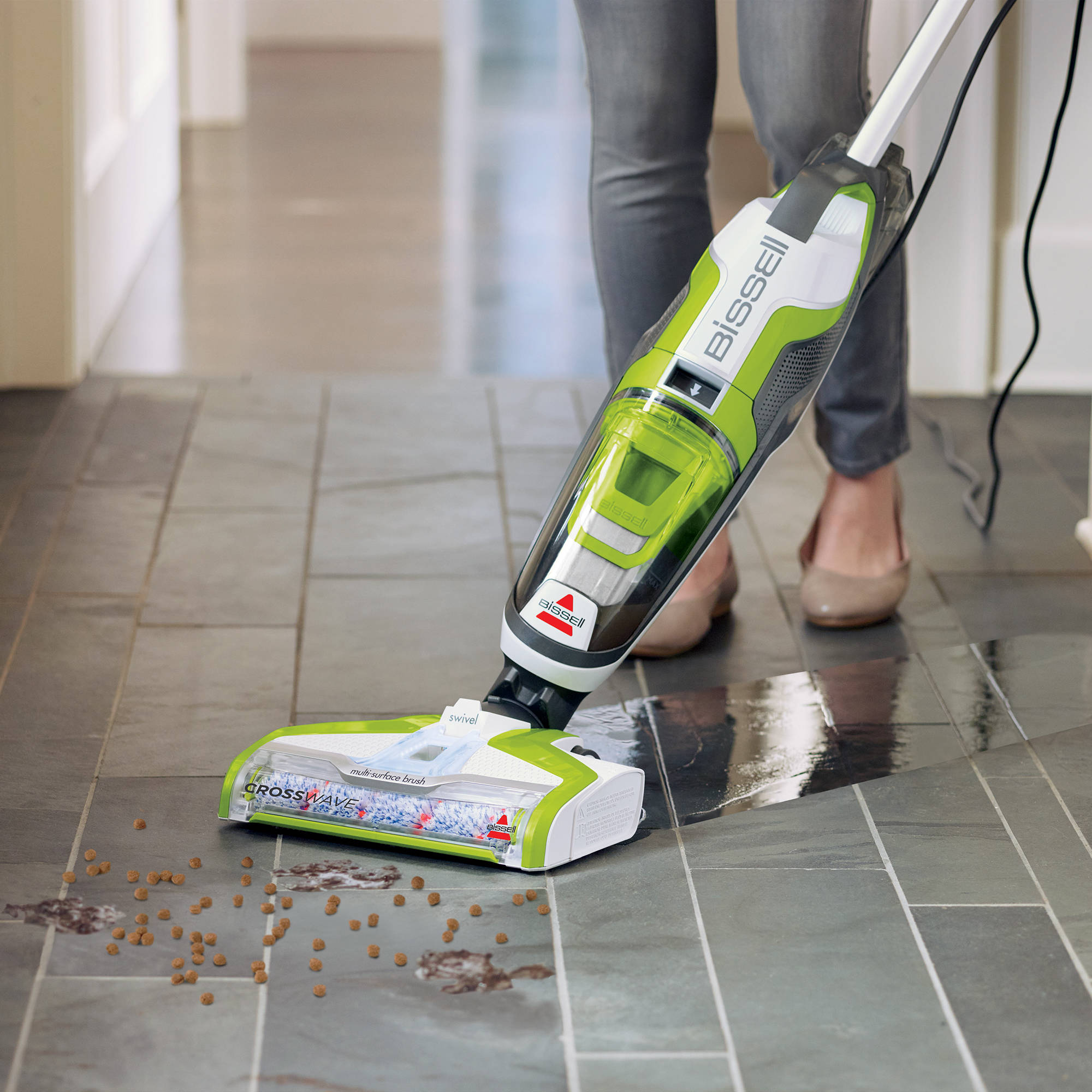 Fingerhut bissell crosswave 2 in 1 vac and wash hard floor cleaner 6easy remove brush window dailygadgetfo Image collections