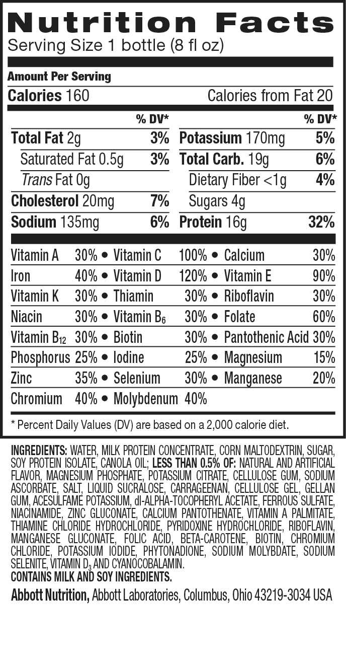 ensure drink nutrition label  u2013 blog dandk