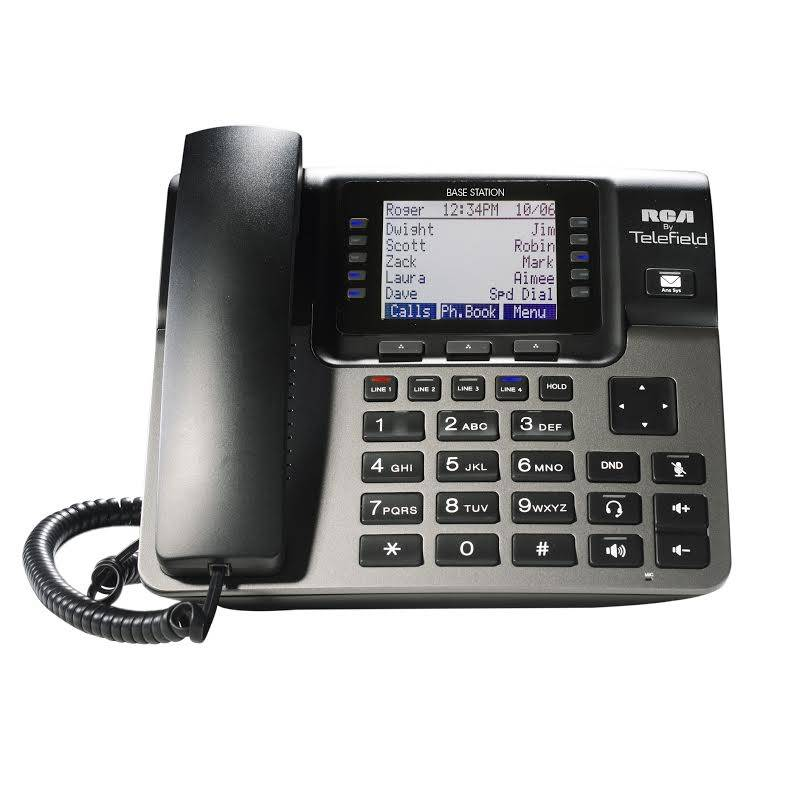 RCA 4-Line Business Phone System Base Station | Staples