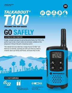 View Talkabout T100 Data Sheet PDF