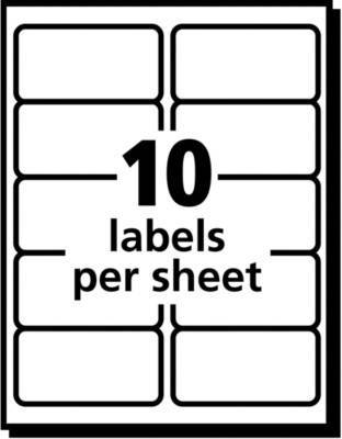 Avery Easy Peel Clear Inkjet Shipping Labels 8663 2 X 4 Box Of 250