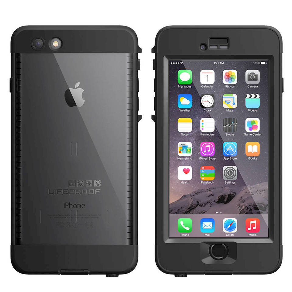 sports shoes 0cc2f 81dfd LifeProof NÜÜD Apple iPhone 6 Plus - Protective waterproof case for cell  phone - black, smoke - for Apple iPhone 6 Plus