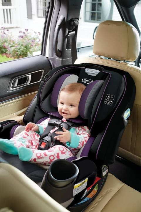 The GracoR 4EverTM Extend2FitTM 4 In 1 Convertible Car Seat Gives You 10 Years With One