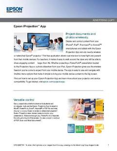 View Epson iProjection App PDF