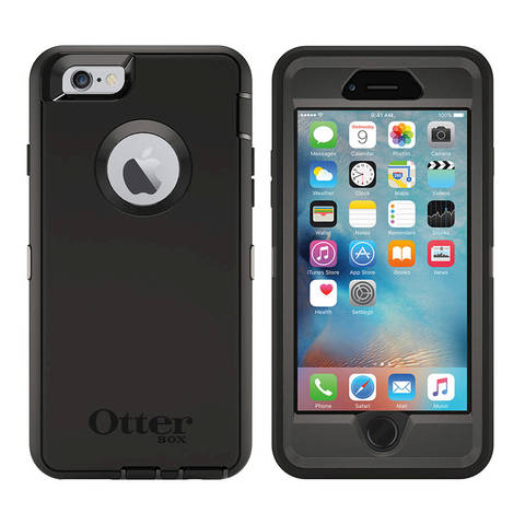 innovative design 60fa2 f372b OtterBox Defender Series Case for iPhone 6/6s, Black - Walmart.com