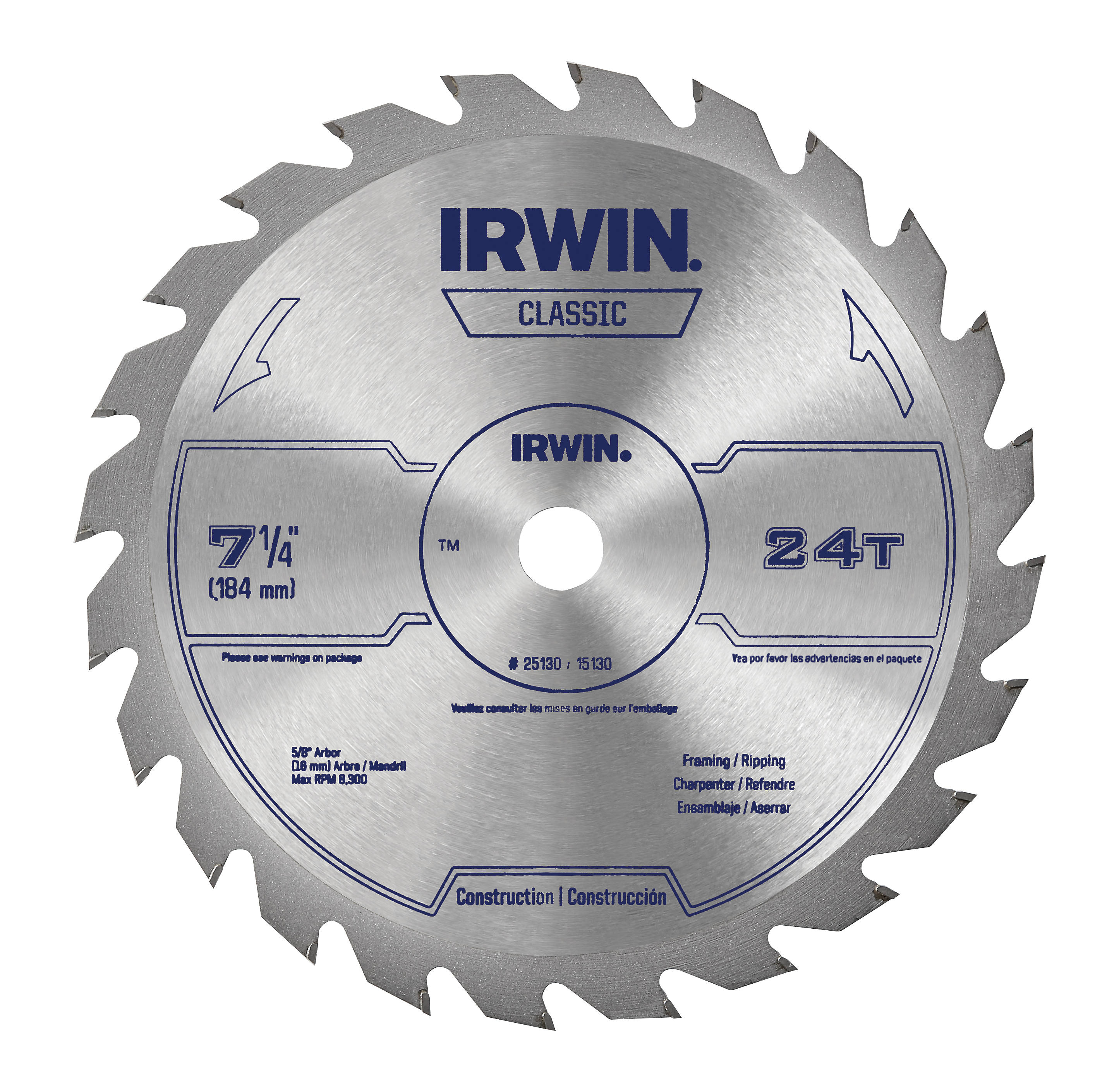 Shop IRWIN Classic-Pack 7-1/4-in-Tooth Circular Saw Blade at Lowes.com