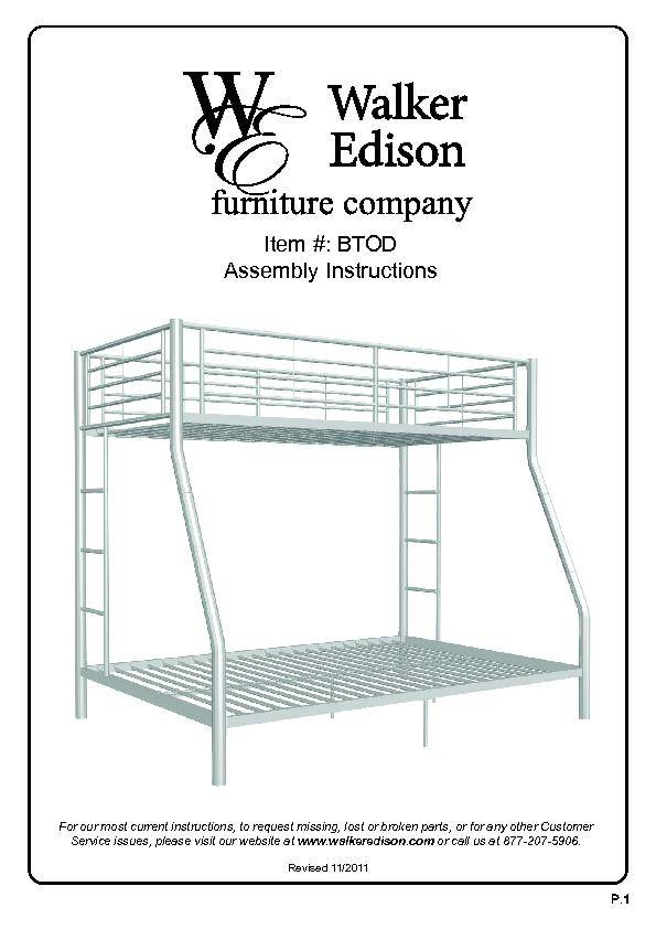 Metal Bunk Bed Twin Over Full Assembly Instructions