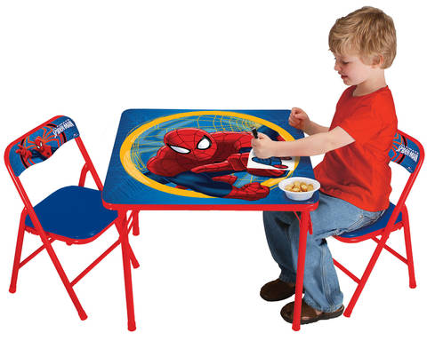The Marvel Spider Man Activity Table And Chairs Set Is Just The Right Size  For Your Little Ones