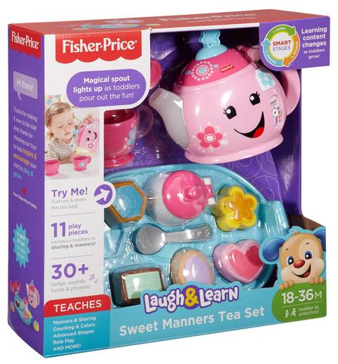 5303199a7f Fisher-Price Laugh And Learn Sweet Manners Tea Set : Target