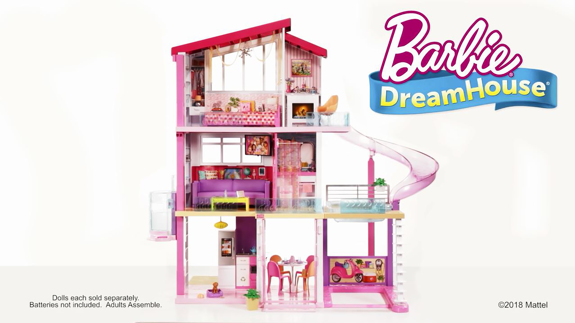 New Barbie Dreamhouse Playset With 70 Accessory Pieces Walmart Com