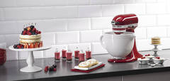 Empire Red Stand Mixer with White Chocolate Ceramic Bowl