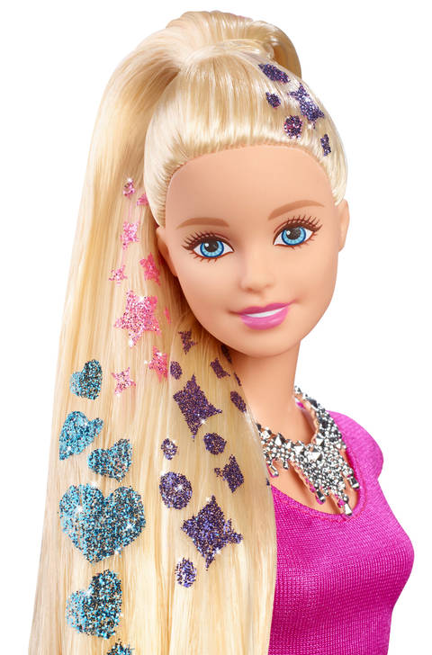 Barbie Glitter Hair Design Doll Target