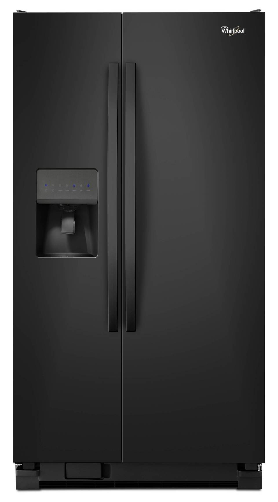 refrigerator black. whirlpool 24.5-cu ft side-by-side refrigerator with ice maker (black black o