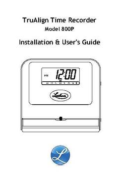 View 800P User's Guide PDF