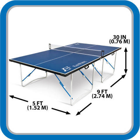 Tournament Sized Table Tennis Table