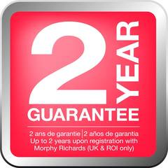 Up to 2 year guarantee.