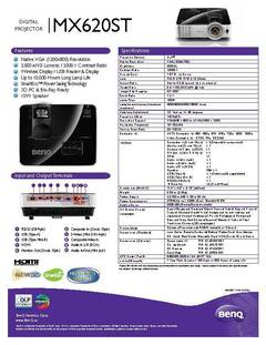 MX620ST Specification Sheet - opens PDF