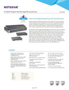 View All About Web Managed Switches PDF