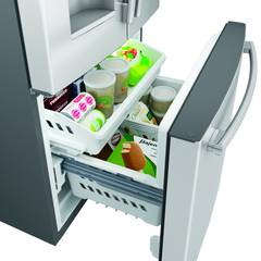 Large, convenient bottom freezer