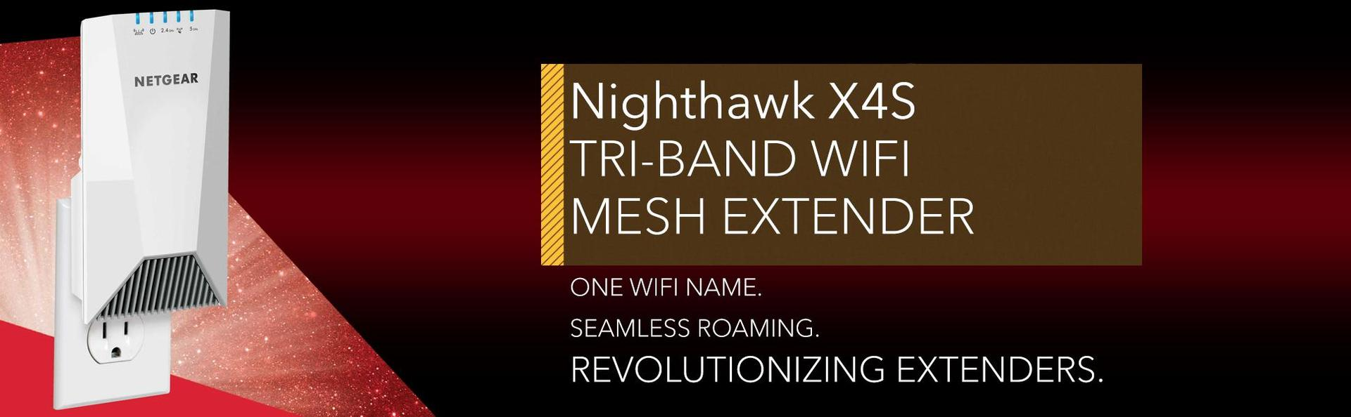NETGEAR Nighthawk Mesh X4S WiFi Mesh Extender - Build your own whole home  mesh WiFi to eliminate dead zones (EX7500) - Newegg com
