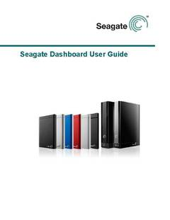 View Seagate Dashboard User Guide PDF