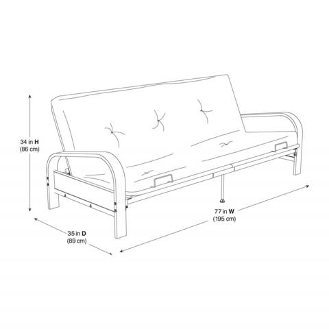 Futon Frame Sizes Functional Furniture Product Dimensions