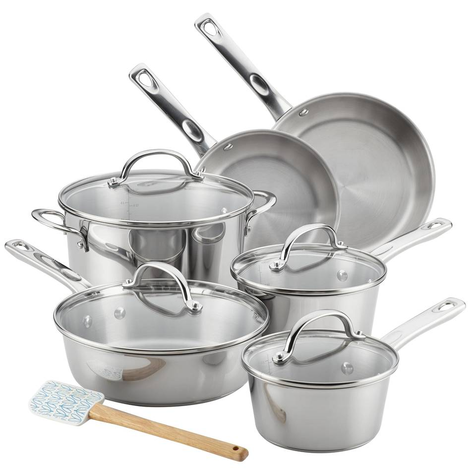 Ayesha Curry™ 11pc Home Collection Stainless Steel Cookware Set : Target