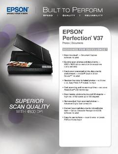 Perfection V37 Product Specifications