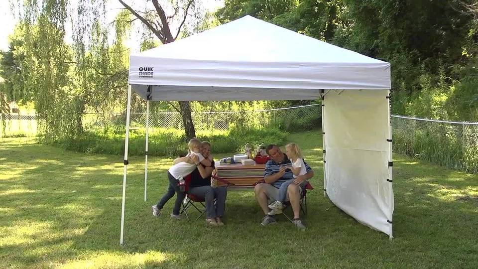 ez up envoy straight leg instant canopy 100 sq ft coverage walmartcom & King Canopy 10u0027 X 10u0027 Tuff Tent With Walls Instant Canopy ...