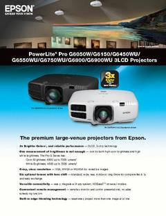 PowerLite Pro G Series Product Brochure  - opens PDF
