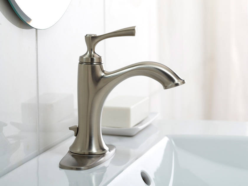 Kohler Elliston Brushed Nickel 1 Handle Single Hole 4 In