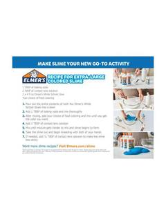 View Elmer's Extra Large Colorful Slime PDF